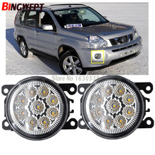 2x Car Exterior Accessories H11 LED Fog Lamps Front Bumper Lights For NISSAN X-Trail T31 Closed Off-Road Vehicle 2007-2014