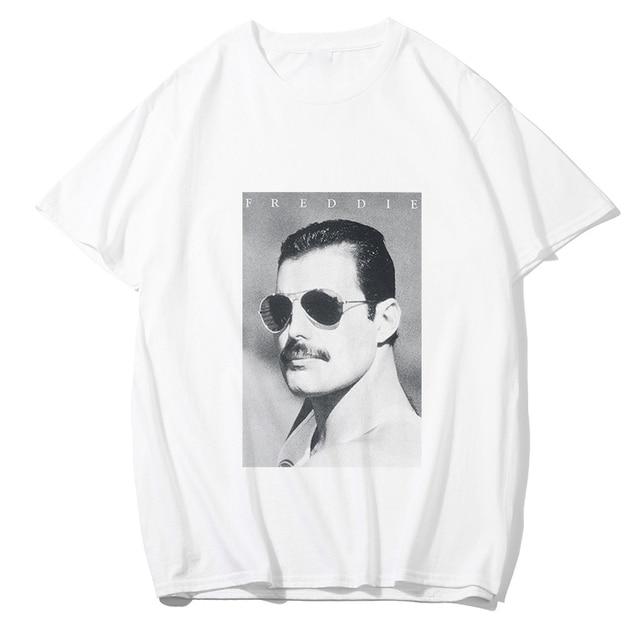 Freddie Mercury T Camisa dos homens/mulheres moda VOGUE tshirt Hip Hop estilo punk Rock de verão de algodão branco Dom Namorado tshirt homme