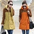 Новый женский беременным зимняя шерсть Большой размер XL-XXXL длинный жакет беременных пальто верхняя одежда корейский мода ну вечеринку одежда