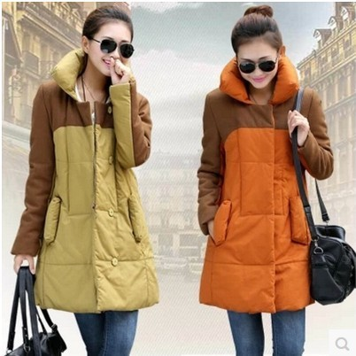 Nuevas mujeres de invierno más el tamaño XL-XXXL larga embarazadas chaqueta abrigos abrigos partido de moda coreana ropa formal
