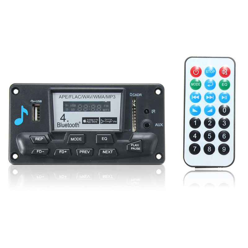 NEW Digital Decoder Board LED Bluetooth 4.0 APE FLAC WAV WMA MP3 Smart Control 12V 4 4 electric violin solid wood 6 9 silvery dark green color 4 string