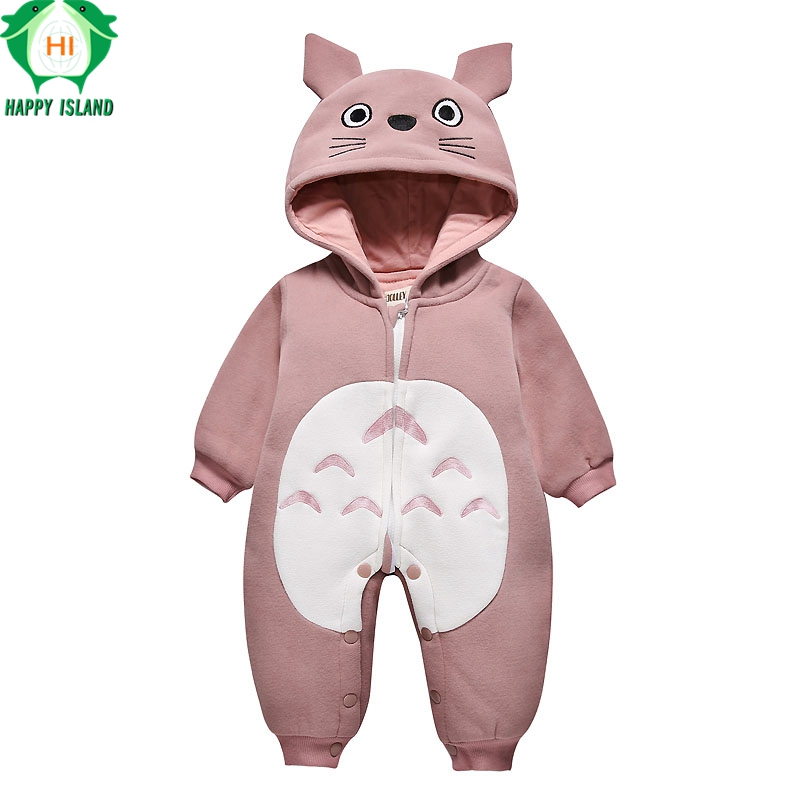 HAPPY ISLAND New Spring Autumn Baby Rompers Cute Cartoon Bear Infant Girl Boy Jumpers Kids Baby Outfits Clothes Children Pajamas autumn boy girl long sleeved home clothes children s pajamas set cartoon pullover outfits 2pcs fashion cute kids sleepwear suit