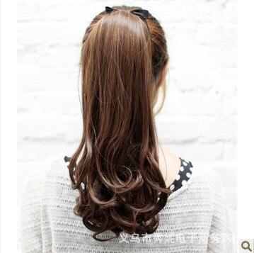 Korea Ewha Women's white collar curly ponytail