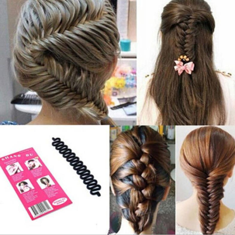 1pc Hair Roller With Hook Magic Twist Styling Braiding Tool Bun Maker Free Shipping #M01072
