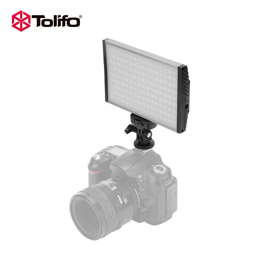 Tolifo PT-15B 울트라 얇은 가벼운 무게의 알루미늄 합금 바이 컬러 LED 비디오 카메라 라이트 사진 조명 DSLR 및 캠코더 용