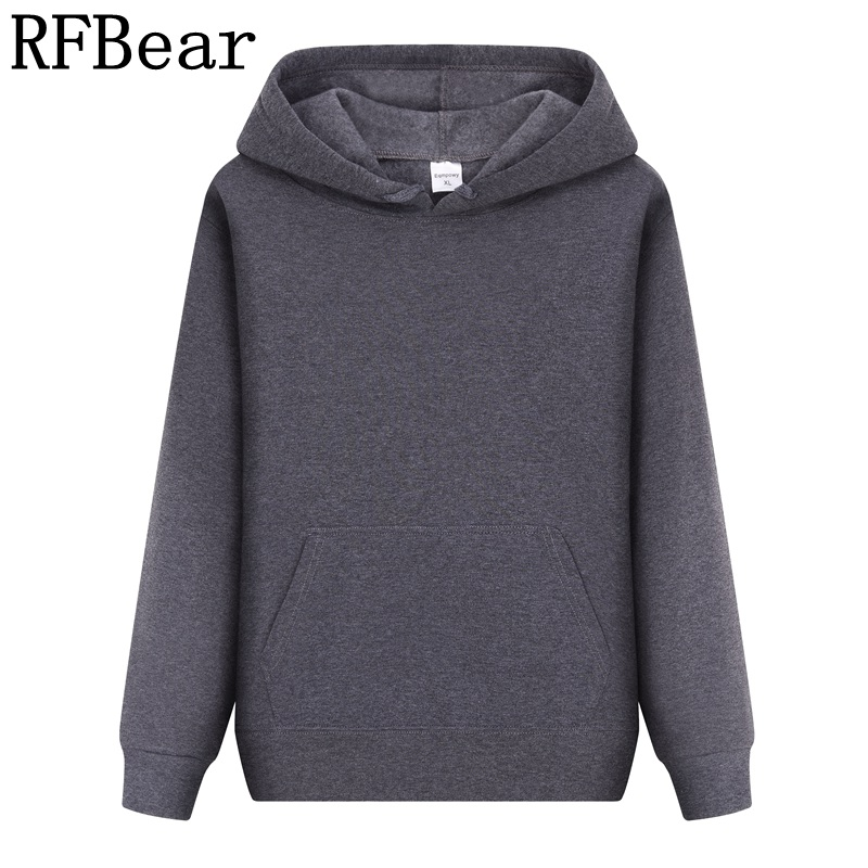 RFBear men Hoodies sweatshirt Print Fleece pullover coat
