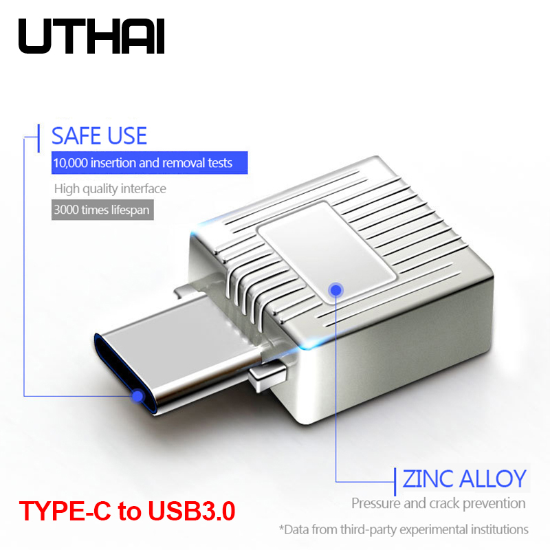 UTHAI C07 Type-C To USB3.0 2in1 Adapter USB C Micro SD TF Memory Card Reader For Macbook Ipad Smartphone With USB3.1 Converter