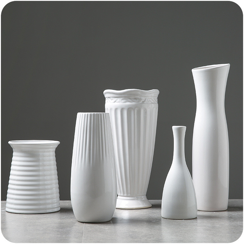 White Ceramic Vases 4