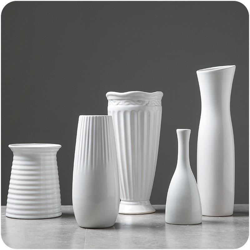 White Ceramic Vases 4