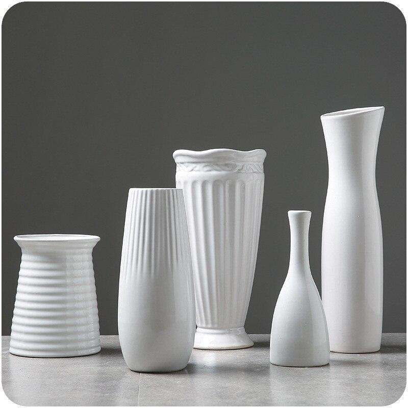Aliexpress Buy Classic White Ceramic Vase Chinese Arts And