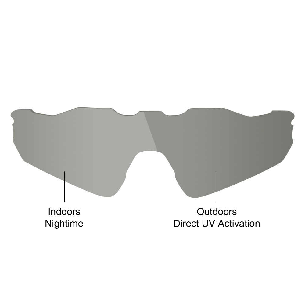 84f997f339e ... Mryok POLARIZED Replacement Lenses for Oakley Radar EV Path Sunglasses  Grey Photochromic ...
