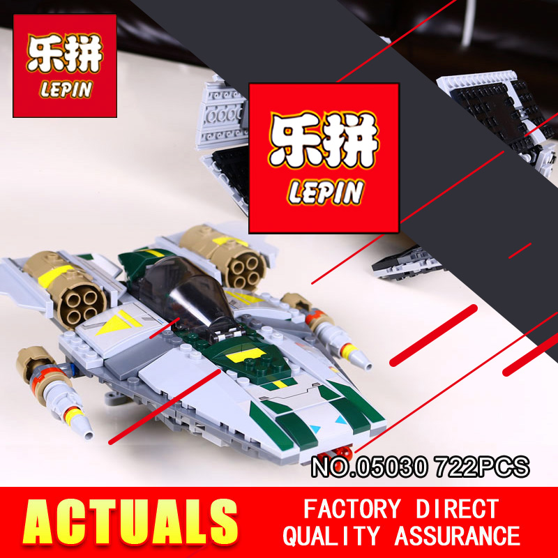 LEPIN 05030 722Pcs Star Vader Tie Wars Advanced VS A-wing Starfighter 75150 Building Blocks Bricks Compatible to children Gift