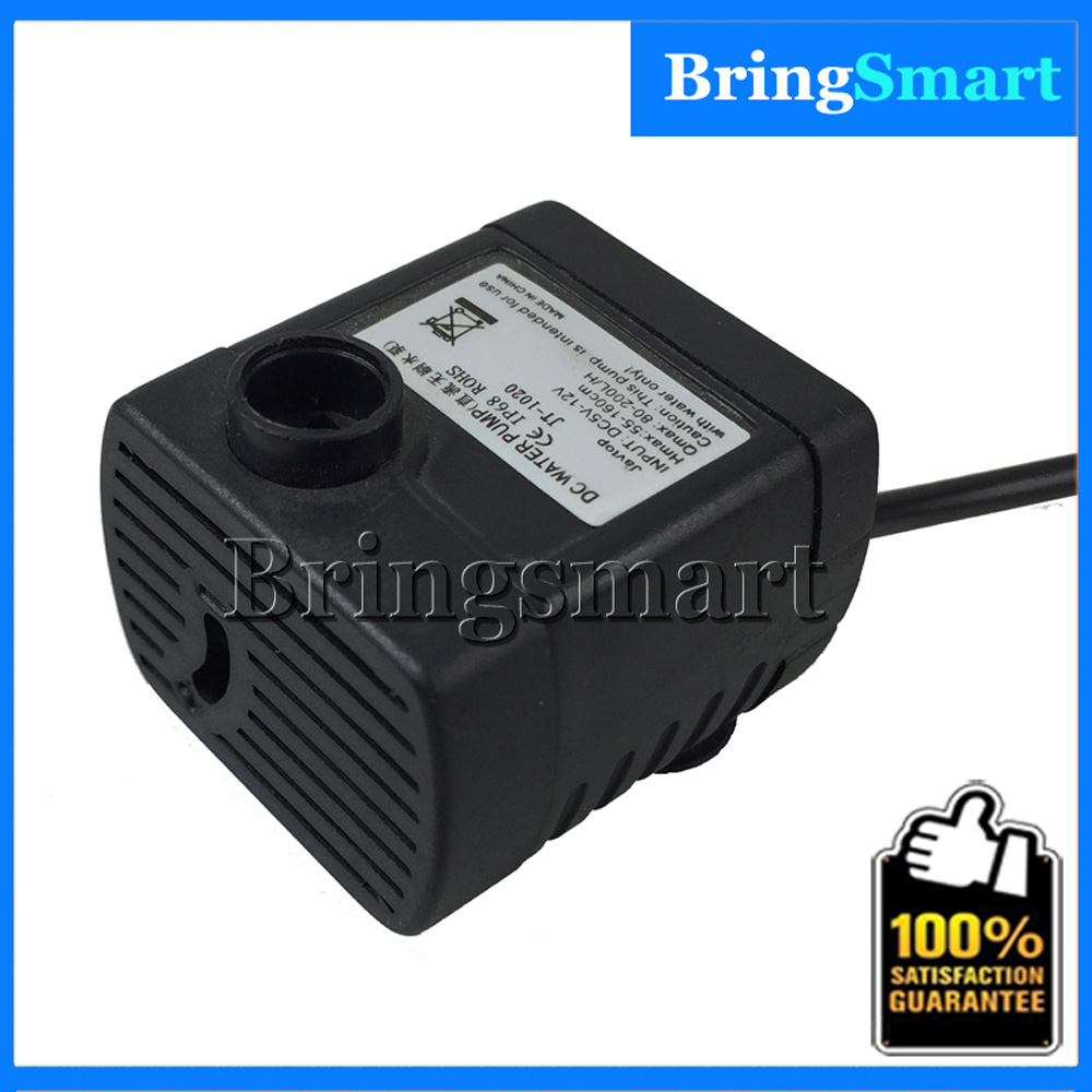 Free shipping JT 1020 Flow Rate Water Pump 12V DC Mini Brushless Pump 1 6M Water