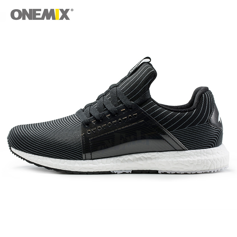 ONEMIX Men Running Shoes Women Gym Fitness Sports Light Soft Black Retro Athletic Trainers Tennis Outdoor Trail Walking Sneakers