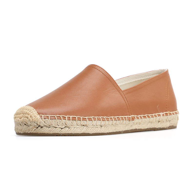 DZYM new spring summer  Genuine leather  Women fashion Flat espadrilles Lady Slip on casual flat shoes-in Women's Flats from Shoes    2