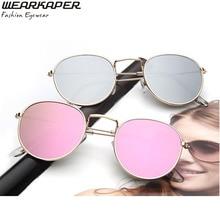 WEARKAPER Women Round Sunglasses Brand Designer Classic Vintage Polarized Metal Sun Glasses Men Gafas Original Oculos