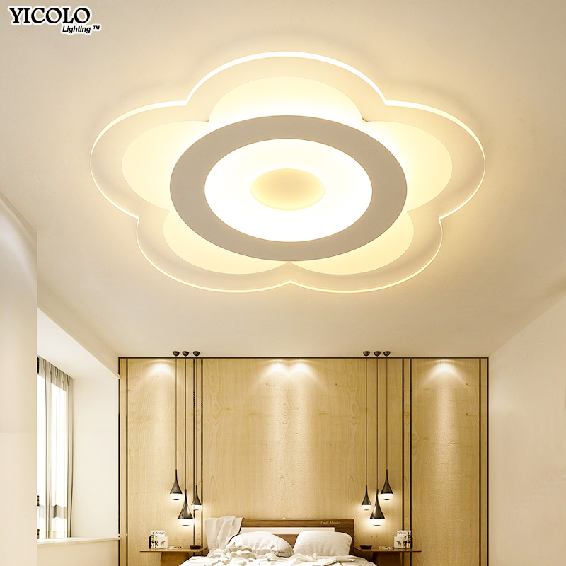 Ultra-thin led ceiling light with Remote control Acrylic ceiling lamp for living room bed room Luminaire Deckenleuchte Home Lamp