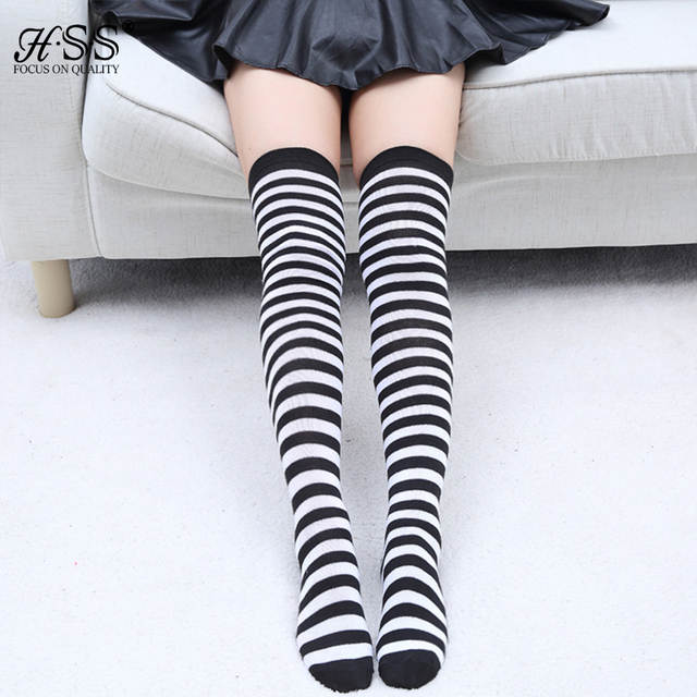14243725d0b placeholder Hot sale Women s Sexy Warm Over Knee tights stockings thigh High  for women girl Striped Stockings