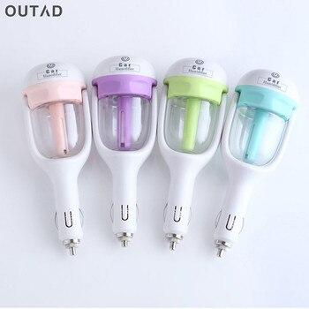 Air Purifier 12V Mini Car Steam Humidifier Air Purifier Aroma Aromatherapy Essential Oil Diffuser Mist Maker Mini Fogger