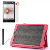 4in1 Luxury Magnetic Folio Stand Leather Case Cover 2x Screen Protector 1x Stylus For Google Nexus