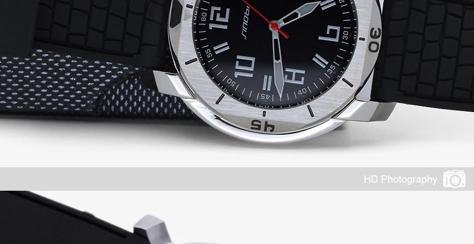 SINOBI Surfing Clock 3Bar Waterproof Watch Mens Sports Wristwatch Designer Branded Chronograph Male Spy Geneva Quartz-watch 007 28