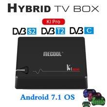 MECOOL KI PRO DVB Android 7.1 TV Box DVB-T2/DVB-S2/DVB-C Amlogic S905D Quad 2G+16G Support Set Top Box CCCAM NEWCAMD