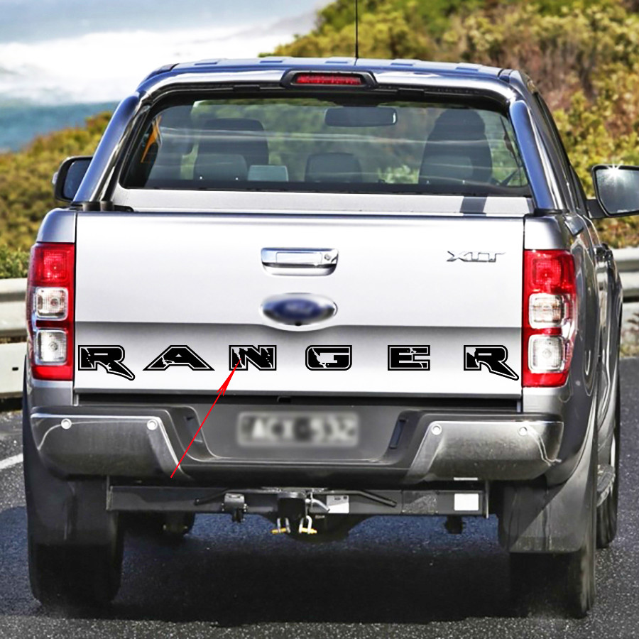 1PC Back Door Letters Graphic Vinyl Car Sticker For Ranger 2012 2013 2014 2015 2016 2017 2018 2019