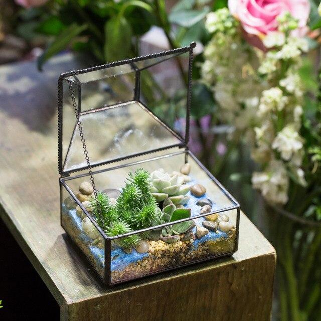 creatieve tafelblad geometrische decoratieve bloempot bonsai pot glas terrarium diy kleine doos. Black Bedroom Furniture Sets. Home Design Ideas