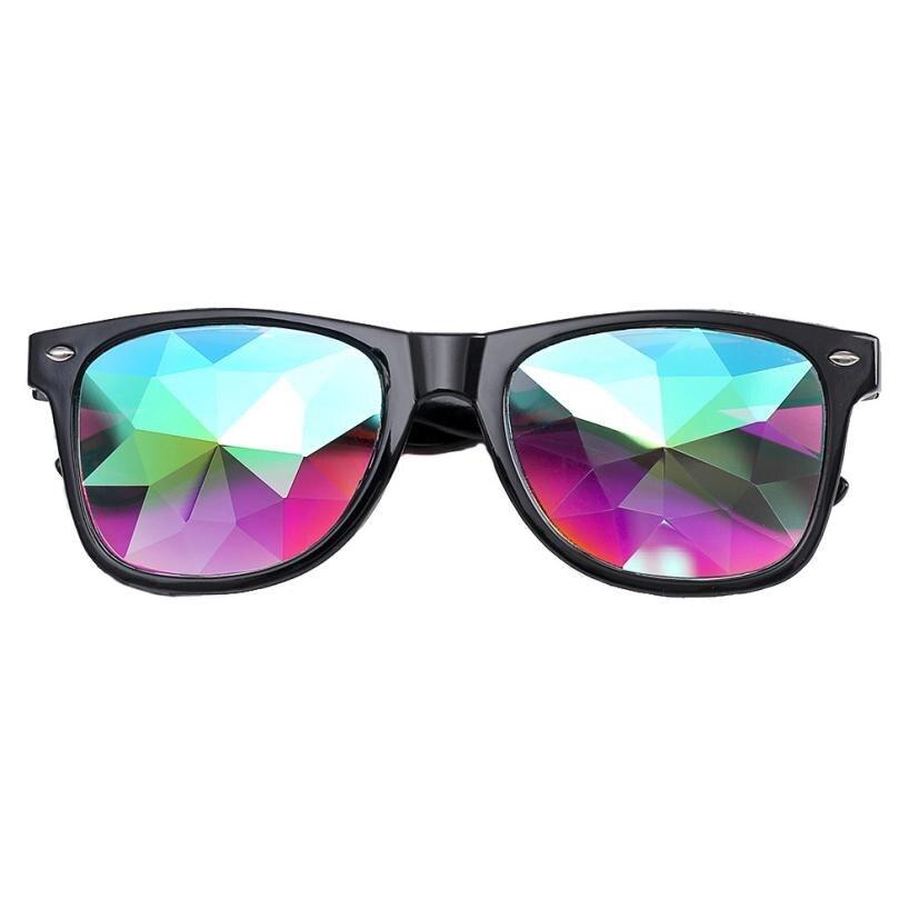 Woweile #5001 Occhiali Da Sole Caleidoscopio Occhiali Rave Partito di Festival EDM Occhiali Da Sole Lente Diffratta