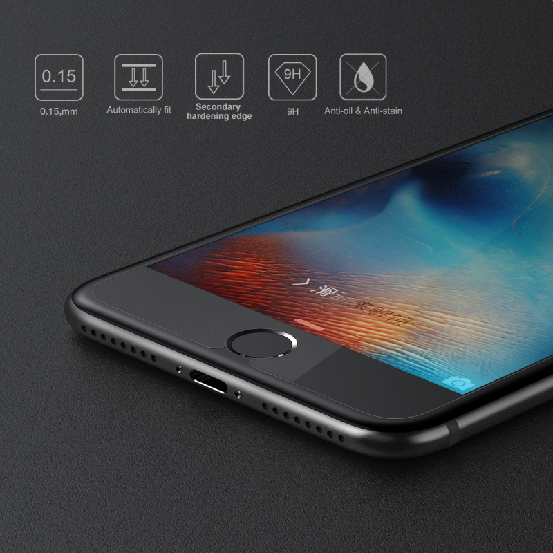 Baseus brand Super Thin 0.15mm Slim Tempered Glass Screen Protector For iPhone 6 S 7 6s Plus Protective Film Screen Guard Cover