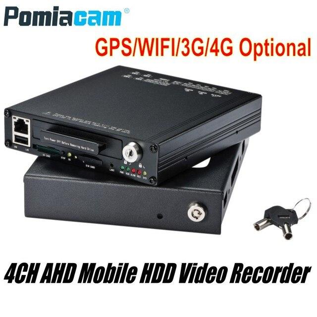 ฟรี DHL HDVR9804 1080 P H.264 4CH AHD Hdd DVR GPS WIFI G   sensor 3G 4G ฮาร์ดดิสก์บันทึกวิดีโอระบบสำหรับรถ Bus