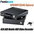 Freies DHL HDVR9804 1080 P H.264 4CH AHD HDD Mobile DVR GPS WIFI G-sensor 3G 4G mobile HDD video aufzeichnung system für Fahrzeug Auto Bus