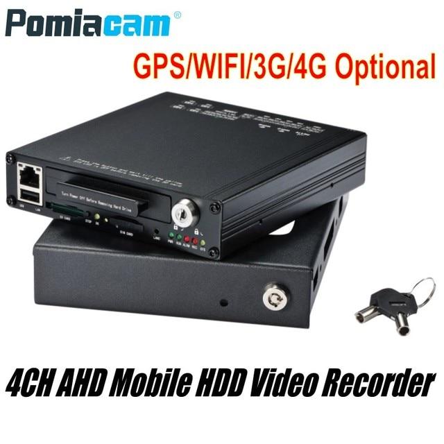 Freies DHL HDVR9804 1080 P H.264 4CH AHD HDD Mobile DVR GPS WIFI G sensor 3G 4G mobile HDD video aufzeichnung system für Fahrzeug Auto Bus