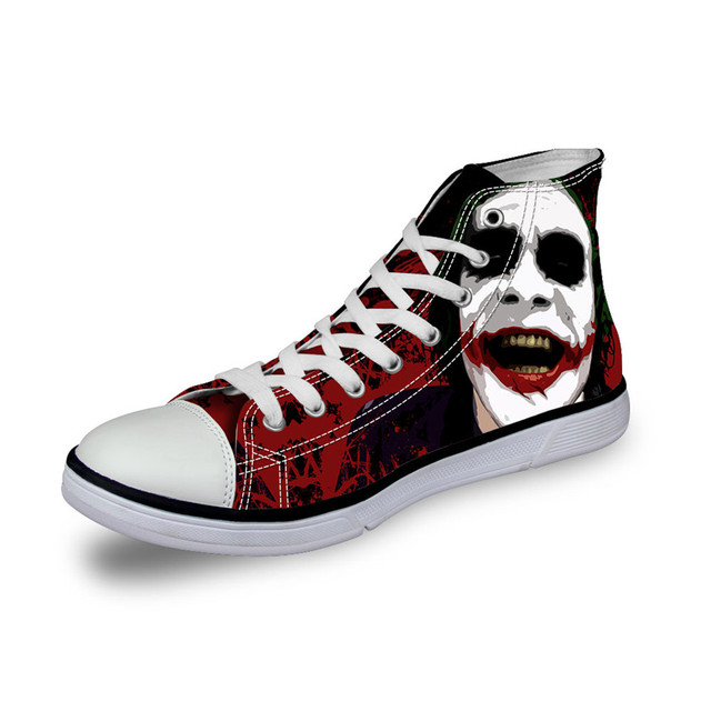 2016 Fashion High Top Canvas Shoes Harley Quinn Joker style