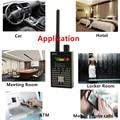 1 MHz-8000 MHz Radio de detección Anti espía señal oculta Cámara GSM micrófono de 4G GPS señales detectores de rastreador de lente RF negro