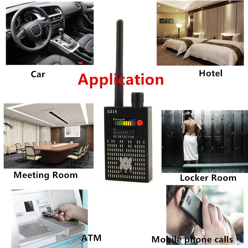 1MHz-8000MHz Radio Detection Anti Spy Signal Hidden Camera GSM Audio Bug Finder 4G GPS Signals Lens RF Tracker Detectors Black hotest wireless anti spy detector ldrf dt1 gsm audio bug finder gps signal lens rf tracker signal bug detector hunt radio signal