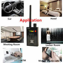 1MHz-8000MHz Radio Detection Anti Spy Signal Hidden Camera GSM Audio Bug Finder 4G GPS Signals Lens RF Tracker Detectors Black - DISCOUNT ITEM  67% OFF All Category