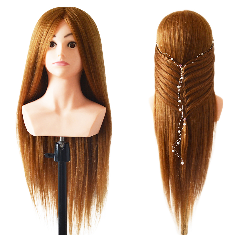 100% Real Natural Hair Hairstyle Head Manikin Head With Animal Hair Hairdressing Mannequins Mannequin Head Hairdresser Head Doll