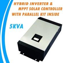5KVA Onde sinusoïdale Pure Onduleur Hybride Intégré MPPT de Charge Solaire Contrôleur avec Parallèle Kit À L'intérieur MPS-5K