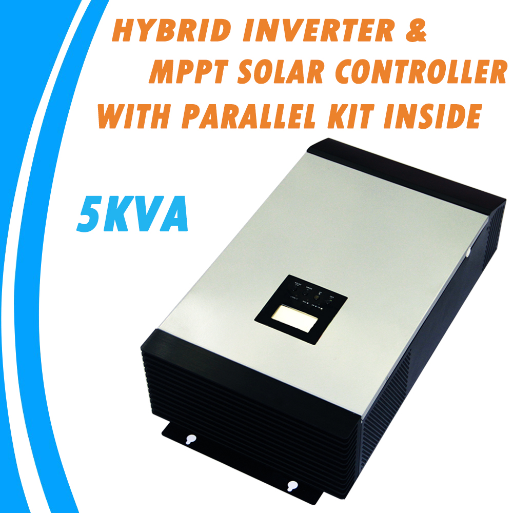 5KVA inversor de Onda Senoidal Pura Inversor Híbrido Construído em MPPT Controlador de Carga Solar com Kit Paralelo Dentro MPS-5K