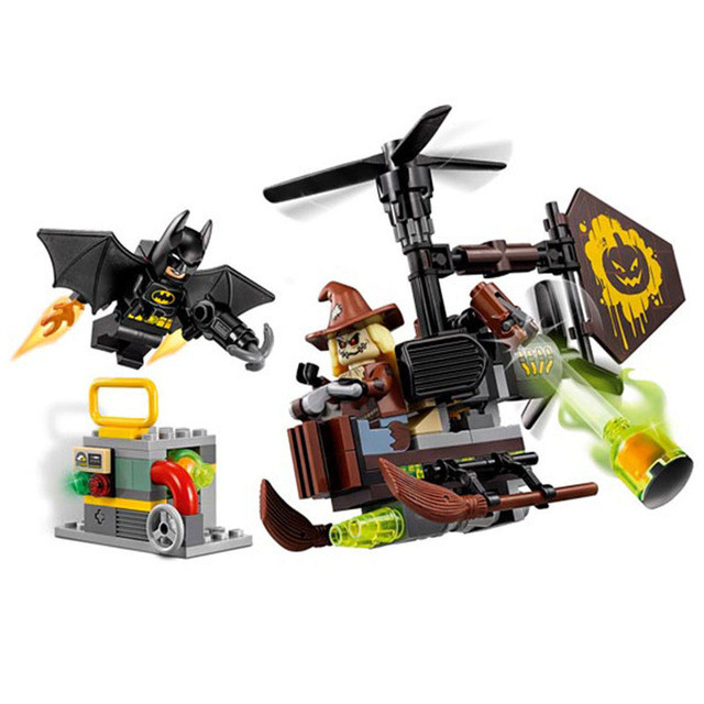 LEPIN Batman Series Scarecrow Fearful Face-Off Building Blocks Bricks Set Movie Model Kids Toys Marvel Compatible Legoe hc9009 1650pcs pikachu cartoon movie series without original box building blocks diamond bricks toys compatible with loz