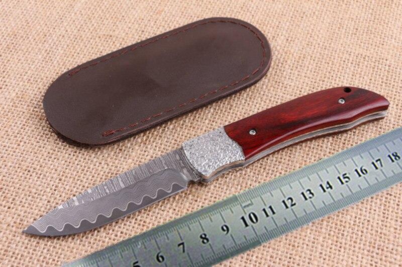 New tactical font b folding b font font b knife b font Damascus steel pocket camping