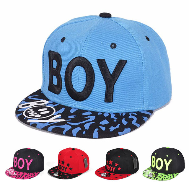 Embroidery Letter Boys Hat Cool Style Caps For Kids Hat For Spring Summer  Adjustable Hip-Hop Snapback Sun Hat f18f40a7166