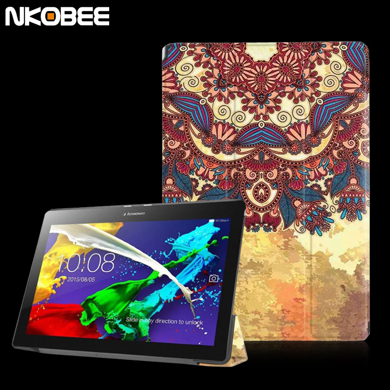NKOBEE Luxury Leather Case Tab2 A10 30 cover case funda for lenovo tab 2 a10-30 10.1tablet for lenovo tab 2 a10-30 case