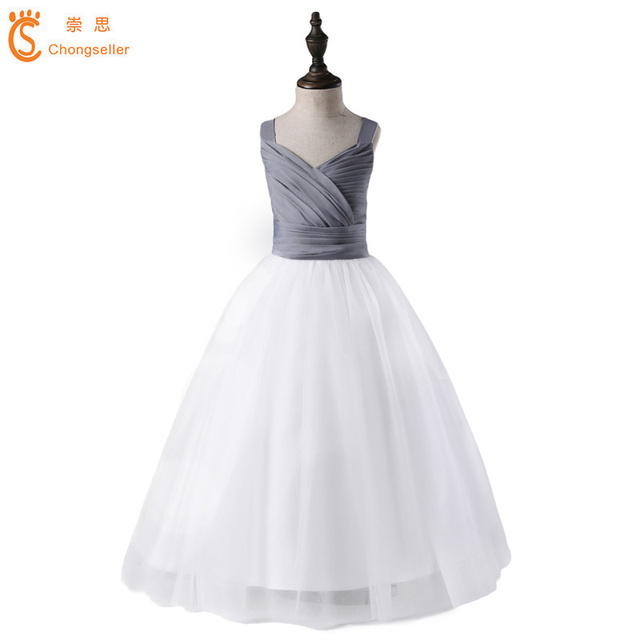 7b3133ec49 US $19.25 |Long Gown Children Lace Princess Girl Dress Wedding Birthday  Party Teenage Girl Kids Evening Prom Dresses For Girls 5 16 Age-in Dresses  ...