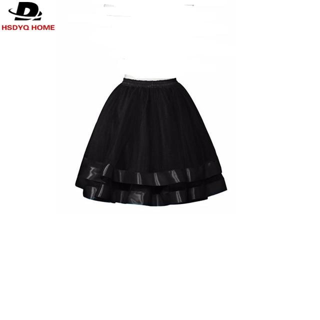 In Stock Petticoat Skirt Tutu Half Slips for Women Formal Dress Black White Brown Free shipping