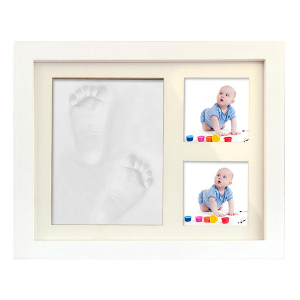 Handprint Footprint Keepsake Footprint Photo Frame For Newborn Baby Souvenir Baby Handprint Kit Personalized Baby Gifts