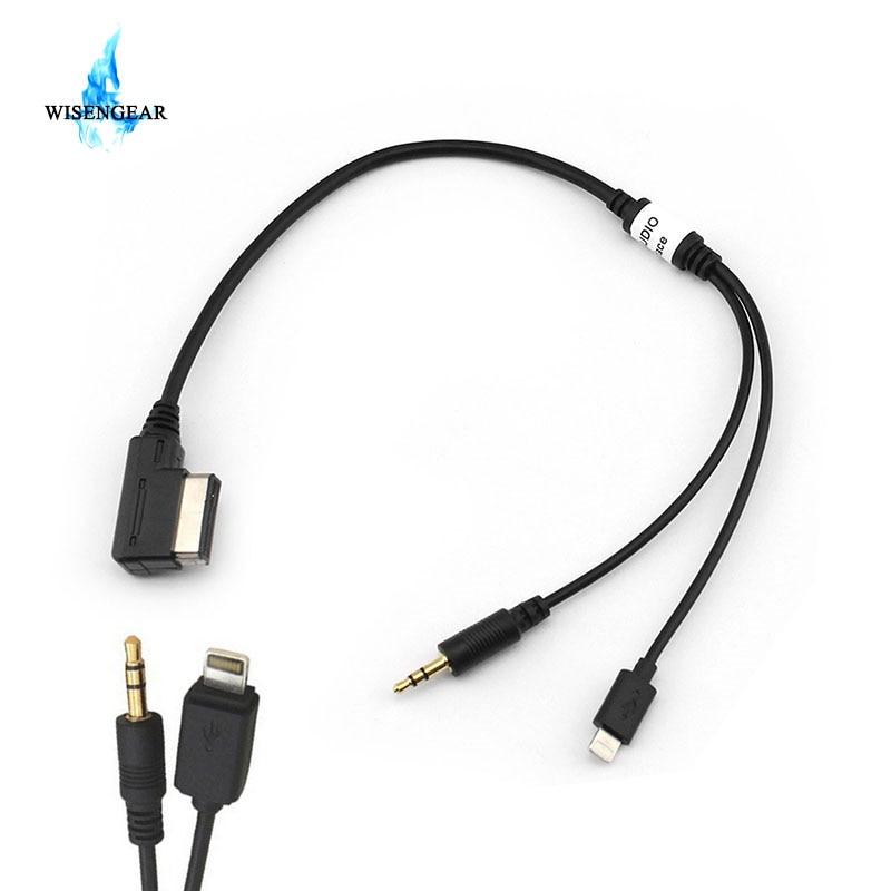 Aliexpress.com : Buy WISENGEAR Car USB Aux Cable For Audi