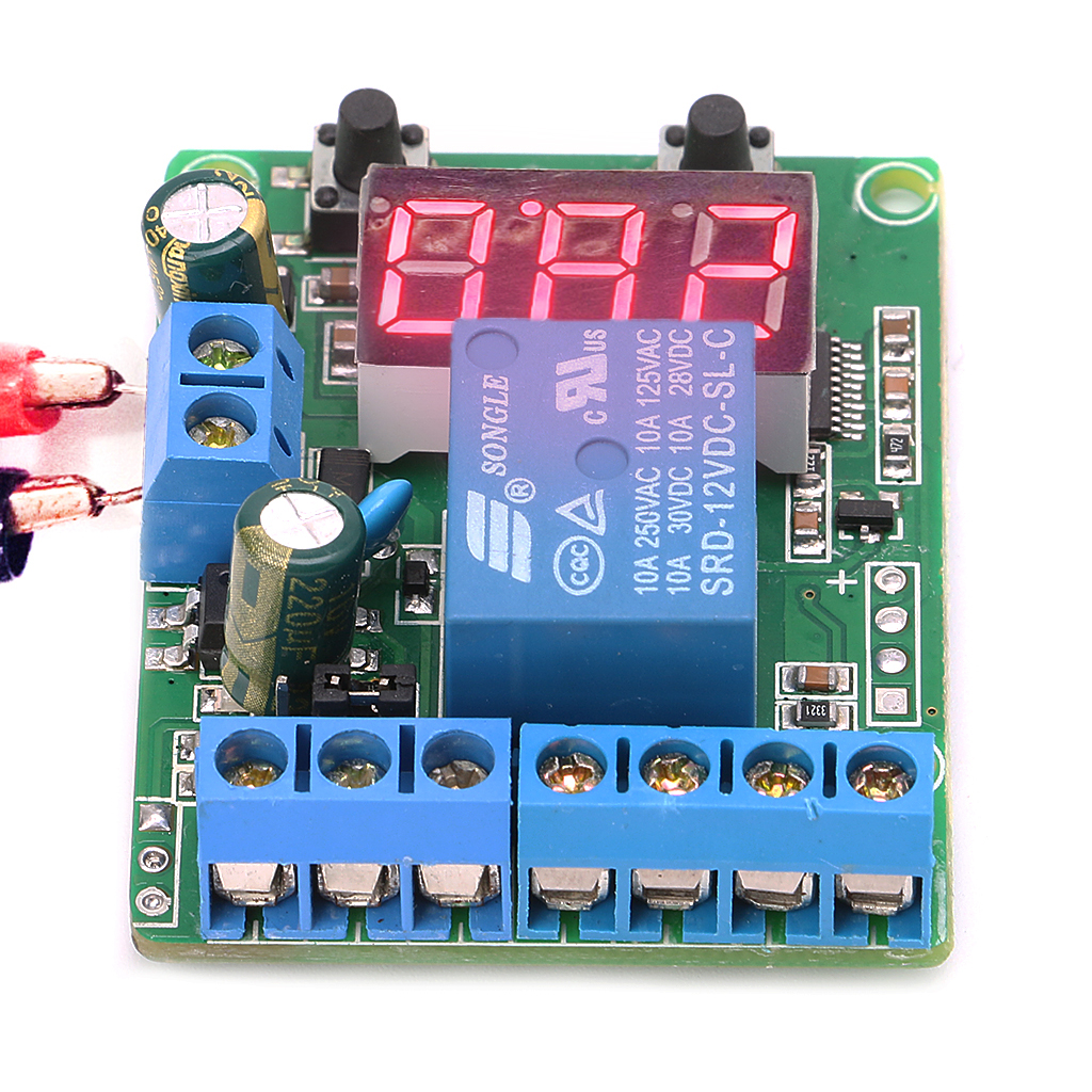 DC Relay Module Control Board 12V Switch Load Voltage Detection Test Monitor APR11_10 voltage detection relay switch control board charging and discharging detection control module upper and lower alarm 12v