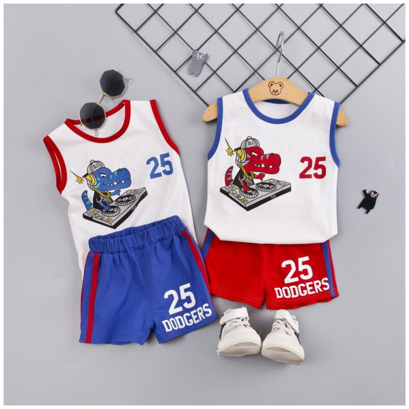 2019 Summer Baby Boys Clothing Sets Infant Clothes Suits Cartoon T Shirt Shorts Kids Children Cotton Casual Suit in Clothing Sets from Mother Kids